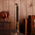 "Shoehorn ""eagle"" wood, brass 50h5,5x2,5 cm"