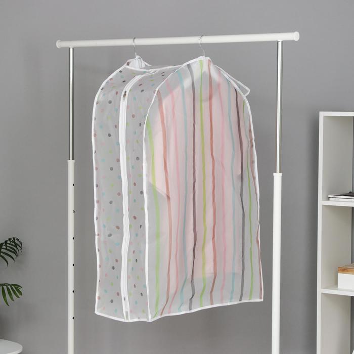 Чехол для одежды 60×30×90 см, цвет МИКС