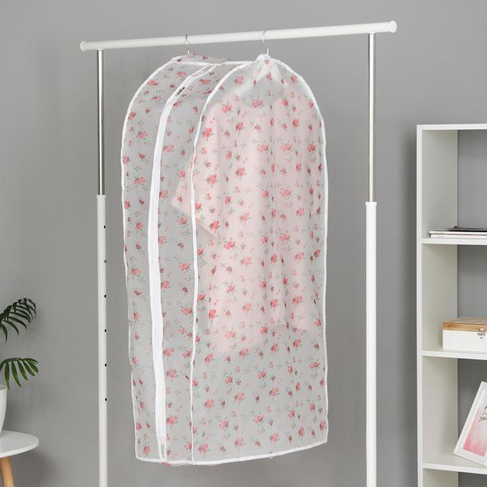 Чехол для одежды 60×30×110 см, цвет МИКС - фото 4640336