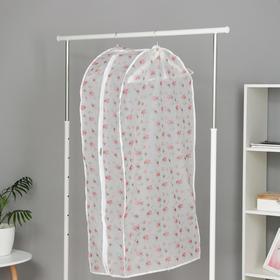 Чехол для одежды 60×30×110 см, цвет МИКС - фото 4640337