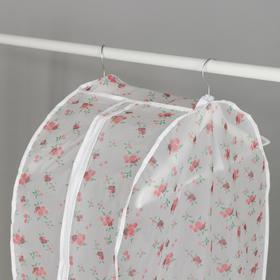 Чехол для одежды 60×30×110 см, цвет МИКС - фото 7672083
