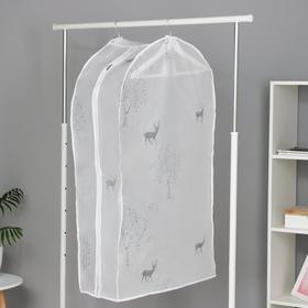 Чехол для одежды 60×30×110 см, цвет МИКС - фото 7672085