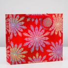Пакет подарочный «Снежные узоры»,люкс, 36 х 32 х 12 см