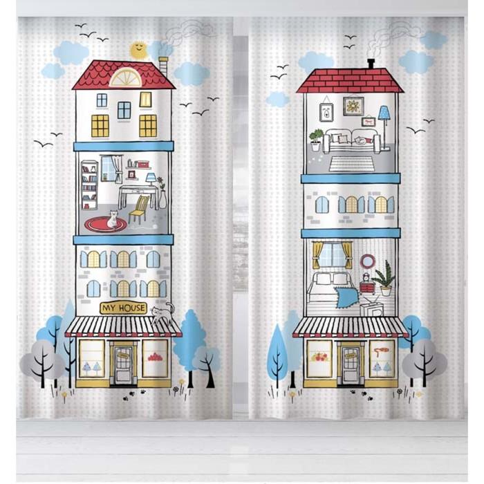 """Комплект штор """"Этель"""" My sweet home 145*260 см-2 шт, 100% п/э, 140 г/м2"""