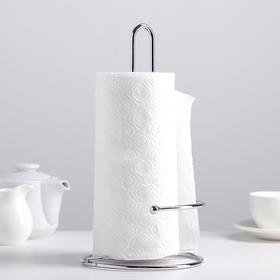 Подставка под бумажные полотенца Доляна, 14,5×14,5×18 см, цвет хром