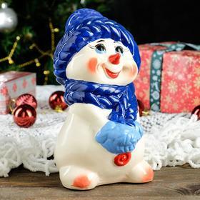 """Копилка """"Снеговик"""", новый год 2022, разноцветная, 21 см"""