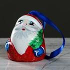 """Колокольчик """"Дед мороз"""", 6 см, керамика"""
