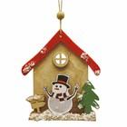 Набор для творчества - создай ёлочное украшение «Дом снеговичка» - фото 99403