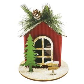"Creativity kit - design Christmas tree decoration ""Santa Claus house"""