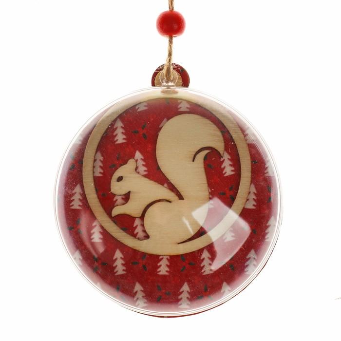 Набор для творчества - создай ёлочное украшение «Белочка в шаре»