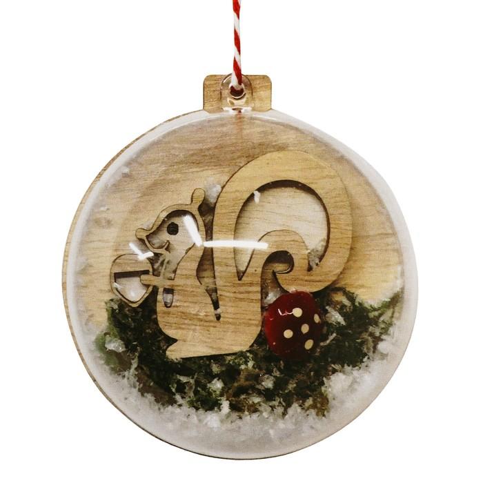 Набор для творчества - создай ёлочное украшение «Новогодняя белочка»