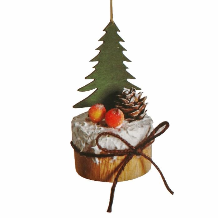 Набор для творчества - создай ёлочное украшение «Ёлочка на подставке с бантиком» - фото 99424
