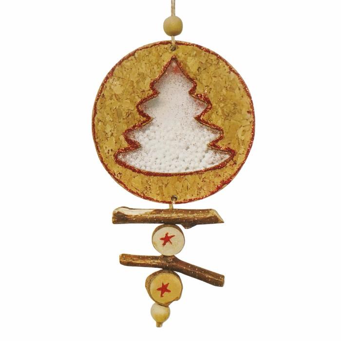 Набор для творчества - создай ёлочное украшение «Ёлочка со снегом»