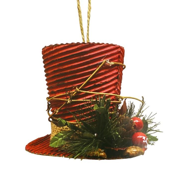 Набор для творчества - создай ёлочное украшение «Новогодний цилиндр»