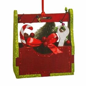 Набор для творчества - создай ёлочное украшение «Коробочка с подаркми и ёлочкой»