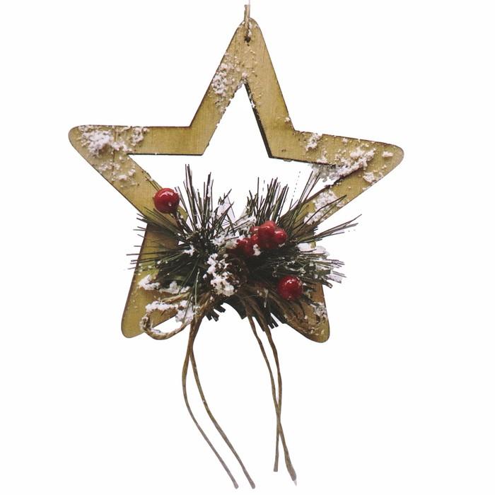 Набор для творчества - создай ёлочное украшение «Заснеженная звёздочка»