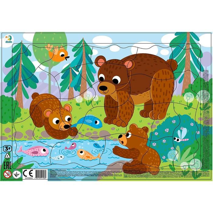 Пазл в рамке «Медвежата», 21 элемент