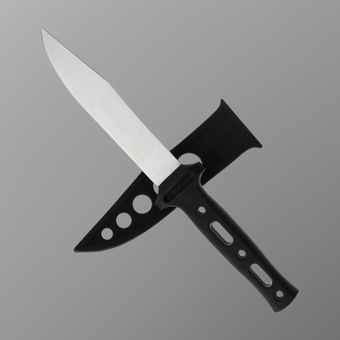 """Нож туристический в ножнах из пластика """"Круги"""", лезвие 12 см - фото 701951373"""