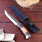 Kitchen knife, handle wood, blade 21 cm