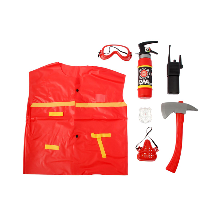 Набор пожарного «Спасатель», 7 элементы, в пакете