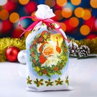 "Bag Christmas ""Oak leaf"", with ribbon, gabardine, 16х30 cm"