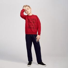 Брюки для мальчика, цвет тёмно-синий, рост 98-104 см