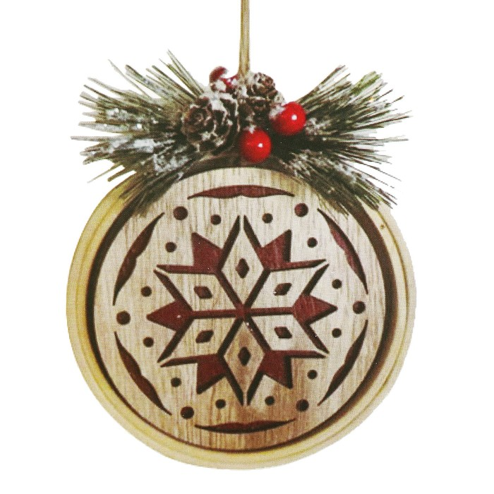 Набор для творчества - создай ёлочное украшение «Снежинка с веточками»