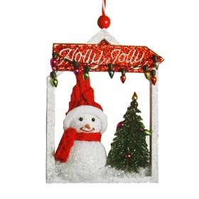 Набор для творчества - создай ёлочное украшение «Снеговик у ёлочки»