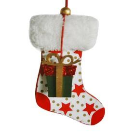 Набор для творчества - создай ёлочное украшение «Носочек с подарком»