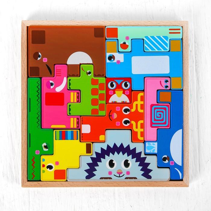 Игрушка развивающая «Сложи животных» 4×25×24 см