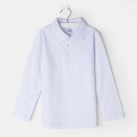 Рубашка для мальчика, цвет белый, рост 116-122 (32)