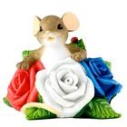 "Молд силикон ""Мышка в розах"" 7х8,5 см"