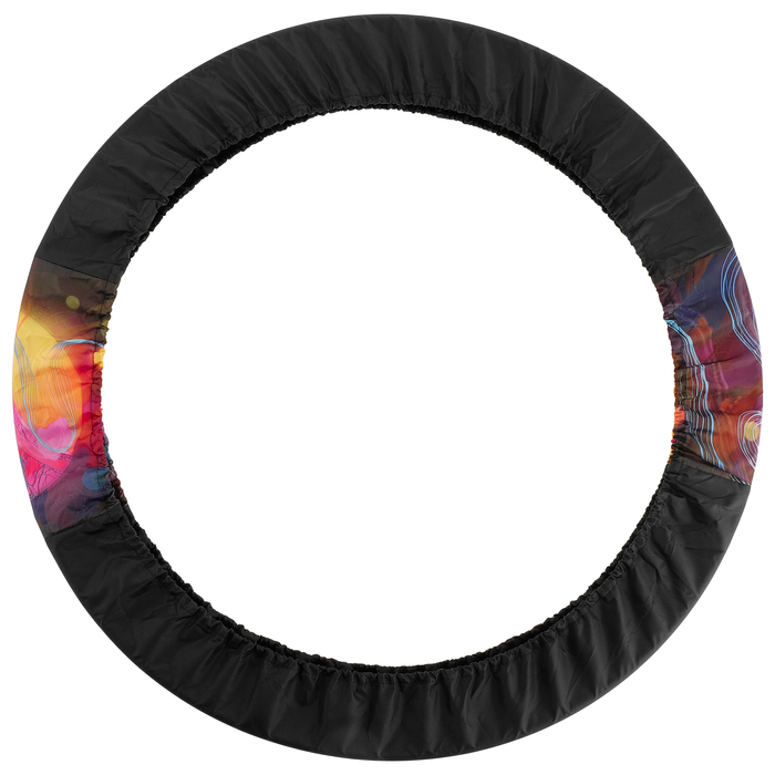Чехол для обруча 309 S-032, цвет чёрный/розовый