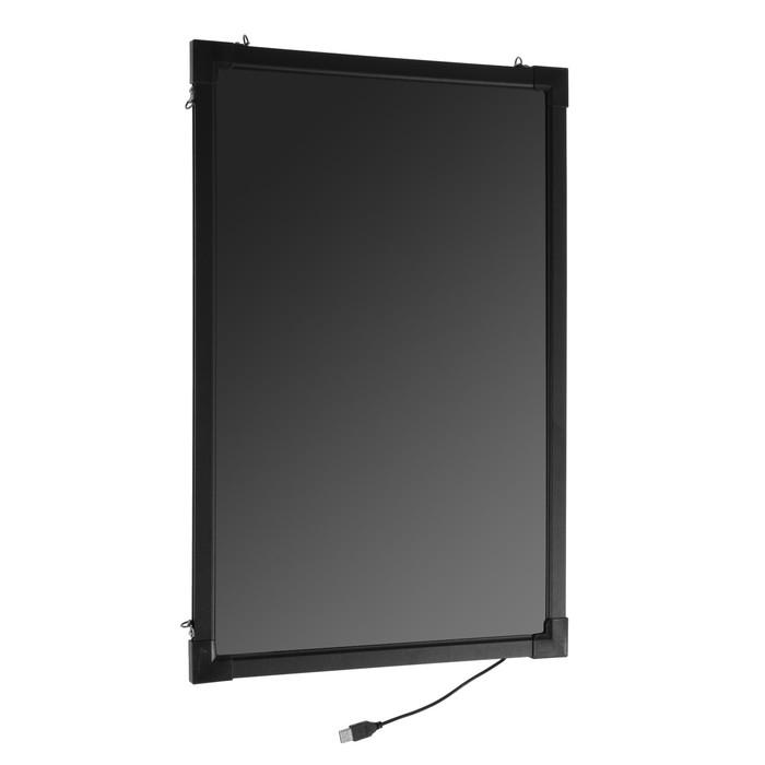 Доска светодиодная 50 х 70 см, под фломастер, LED, с контроллером, 220 В