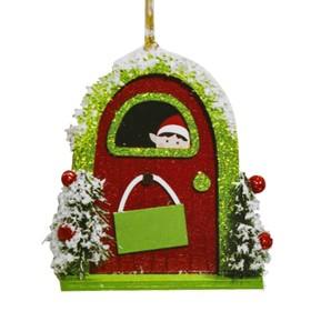 Набор для творчества - создай ёлочное украшение «Эльф за дверью»