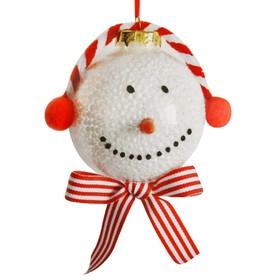 Набор для творчества - создай ёлочное украшение «Снеговик с морковкой»