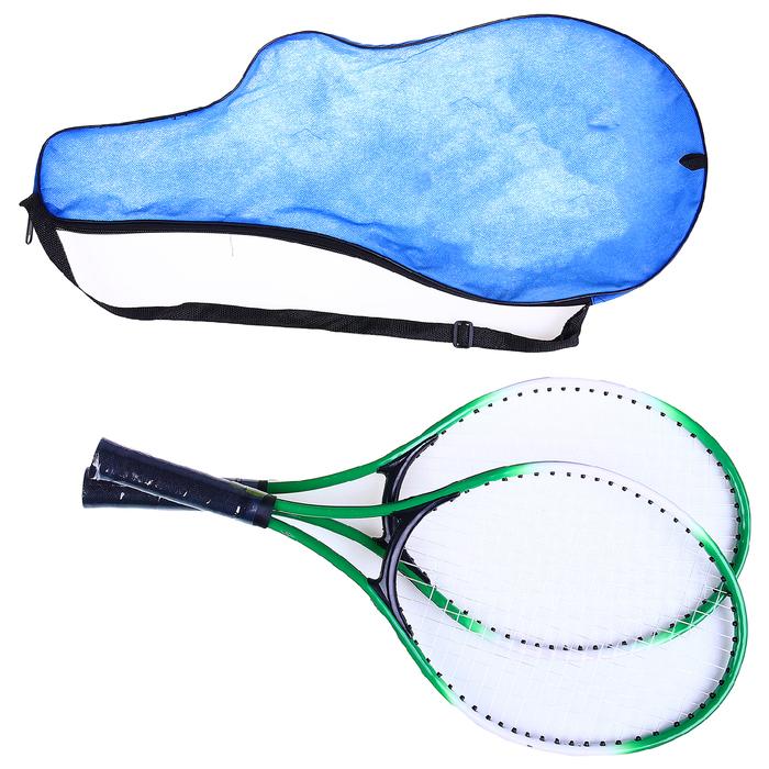 Ракетки для большого тенниса с мячом, детские, цвет зеленый