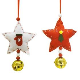 Набор для творчества - создай ёлочное украшение «Звёздочки с колокольчиками», набор 2 шт.