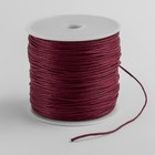 Шнур вощеный на бабине, d=1мм, L=70м, цвет красный