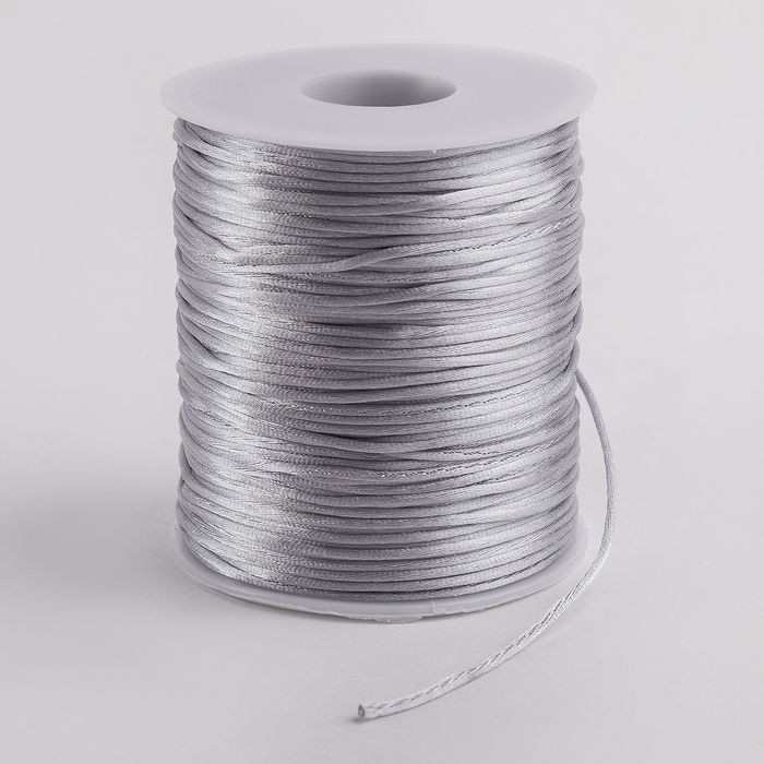 Шнур нейлоновый на бобине, d=1мм L=100м, цвет серый