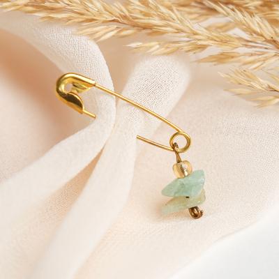 "Safety pin charm ""amazonite"" (FAS 10pcs)"