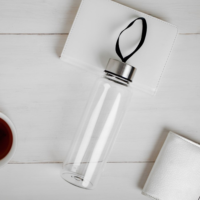 Бутылка для воды стекло, 400 мл