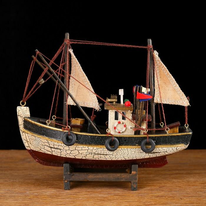 Корабль 19х6х17см, рыболовецкое судно