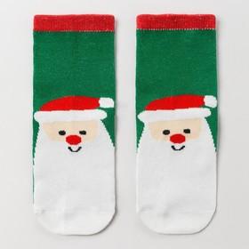 Носки детские «Мороз красный нос», цвет зелёный, размер 14-16 Ош