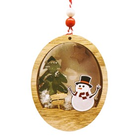 "Creativity kit - design Christmas tree ornament ""Christmas composition with snowman"""