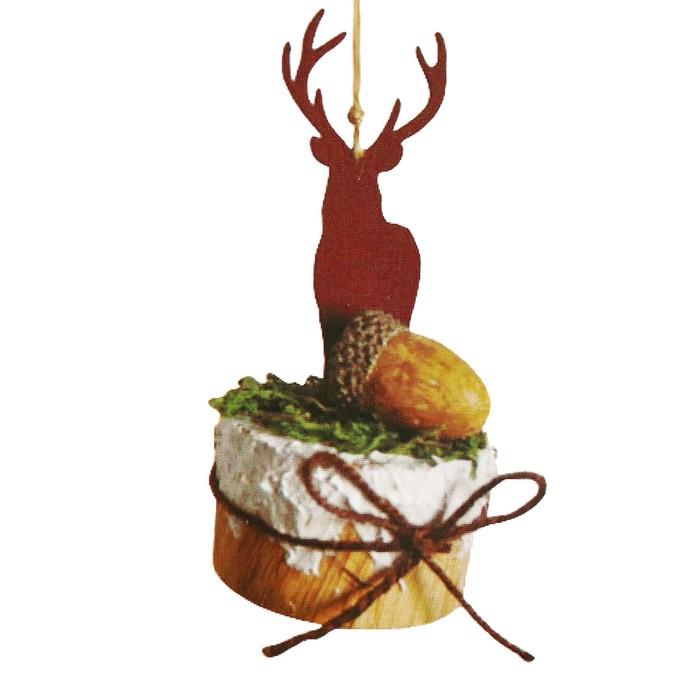 Набор для творчества - создай ёлочное украшение «Олень на подставке с бантиком»