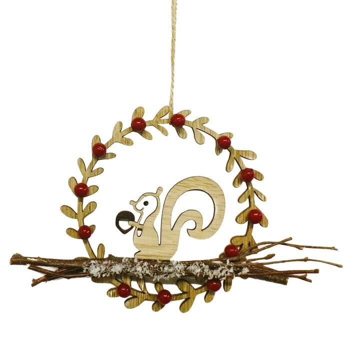 Набор для творчества - создай ёлочное украшение «Белочка в венке»