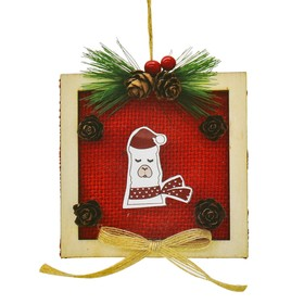 "Creativity kit - design Christmas-tree decoration ""the Lama in the square"""