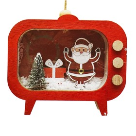 Набор для творчества - создай ёлочное украшение «Дед Мороз в телевизоре»