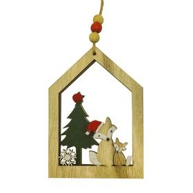 Набор для творчества - создай ёлочное украшение «Пара лисичек у ёлочки»